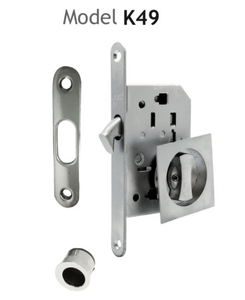 Zamak Satin Nickel Finish Privacy Cerradura De Puerta Corrediza
